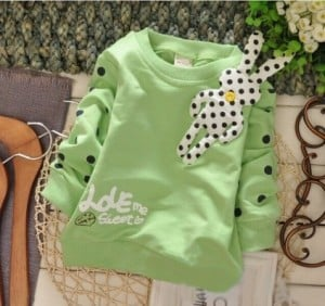 Pastel Green Cool Sweatshirt for Kids