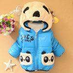 Kids Winter Hooded Panda face Jacket