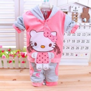 Pink and Grey Hello Kitty Sweatshirt for Children