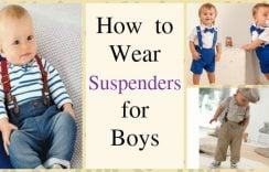 How to Wear Suspenders for Baby Boys