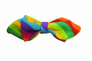 Rainbow Bow Tie For Little Boys