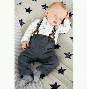 Little Boys Pants with Suspenders