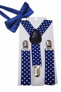 Toddler Boy Blue Suspender and Bow Tie Set