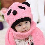 baby Panda Woolen Cap and Muffler