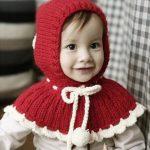 Kids Poncho Style Winter Cap