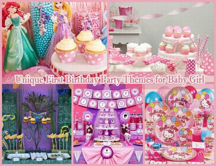 10 unique first birthday party themes for baby girl 1st for Baby girl first birthday party decoration ideas