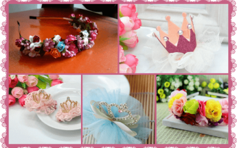 Baby Little Princess Floral Birthday Party Tiaras