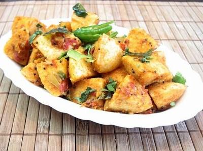 Mini Fried Idli Indian Food