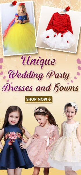 kids wedding party gowns