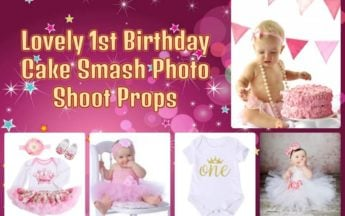 Lovely 1st Birthday Cake Smash Photo Shoot Props and Preparations