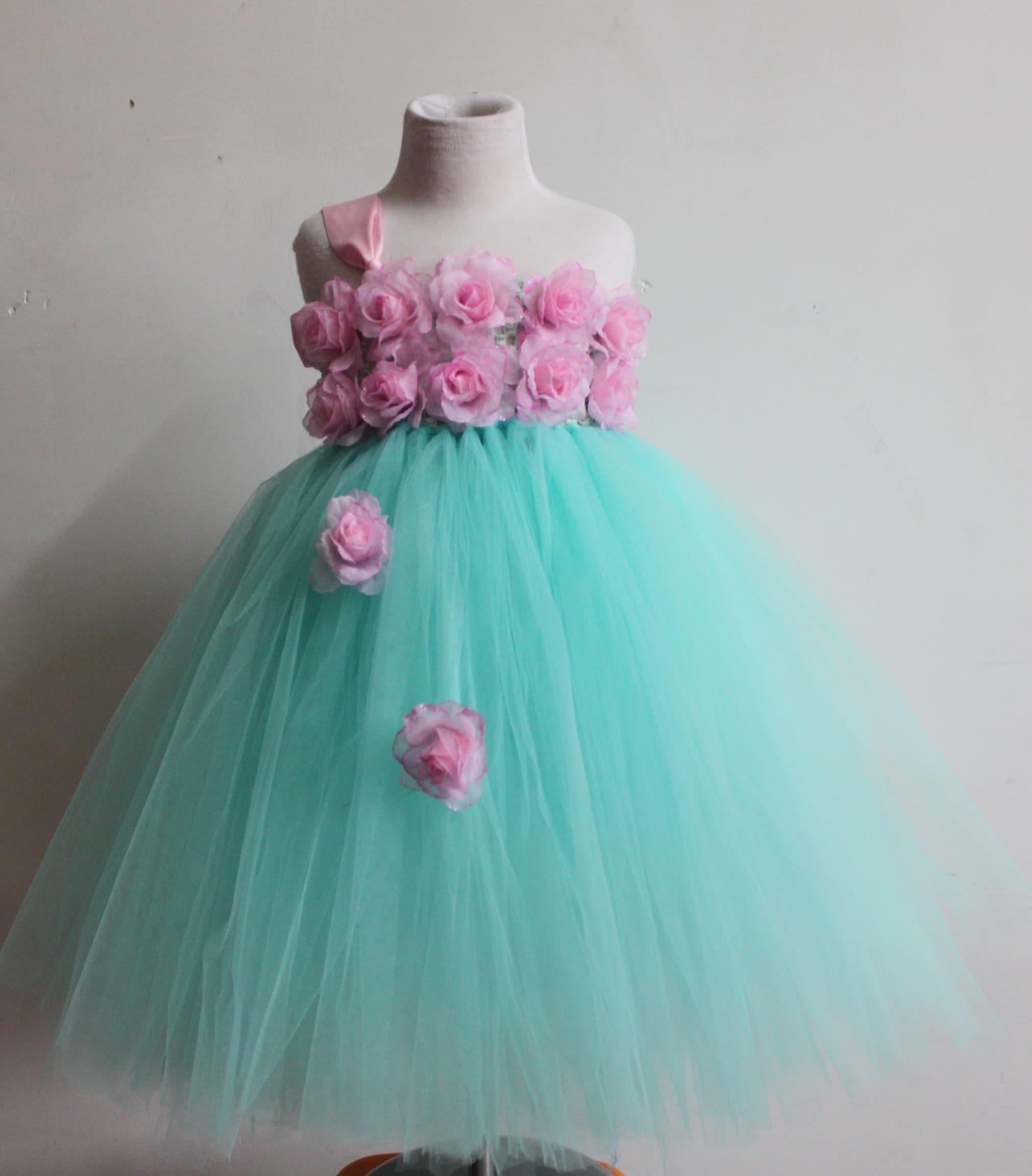 Сшить платье из фатина для девочки на выпускной
