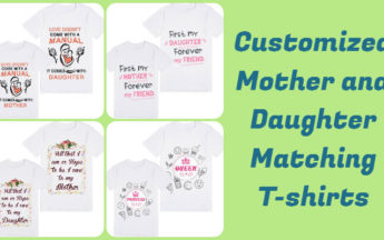 Adorable Customized Mother and Daughter Matching T-shirts in India