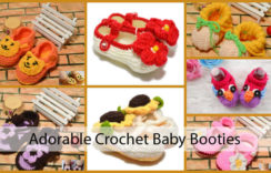 Crochet Baby Booties for Beginners & Perfect Last-Minute Baby Shower Gift