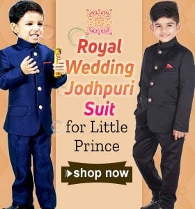 Buy Jodhpuri Wedding Suits for little boy, Bandhgala Coat