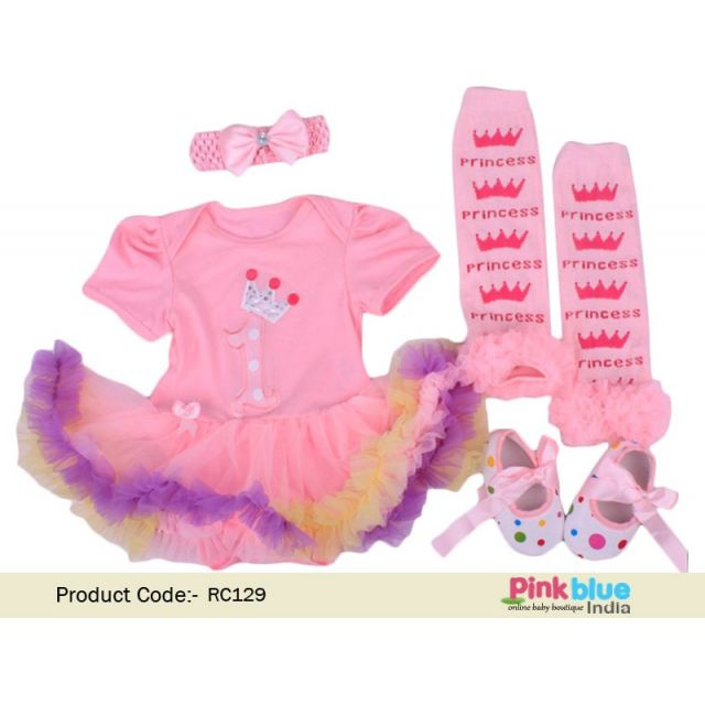 1st Birthday Girl Outfit: Pink Tutu Sets - First Birthday Dress