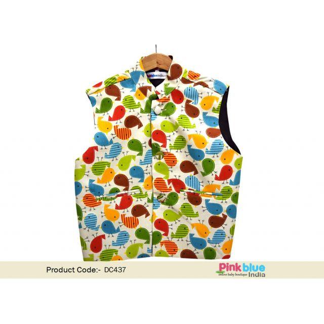 Baby Boy Sleeveless Modi Jacket | Ethnic Jacket for Kids