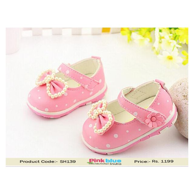 pink 1st birthday shoes