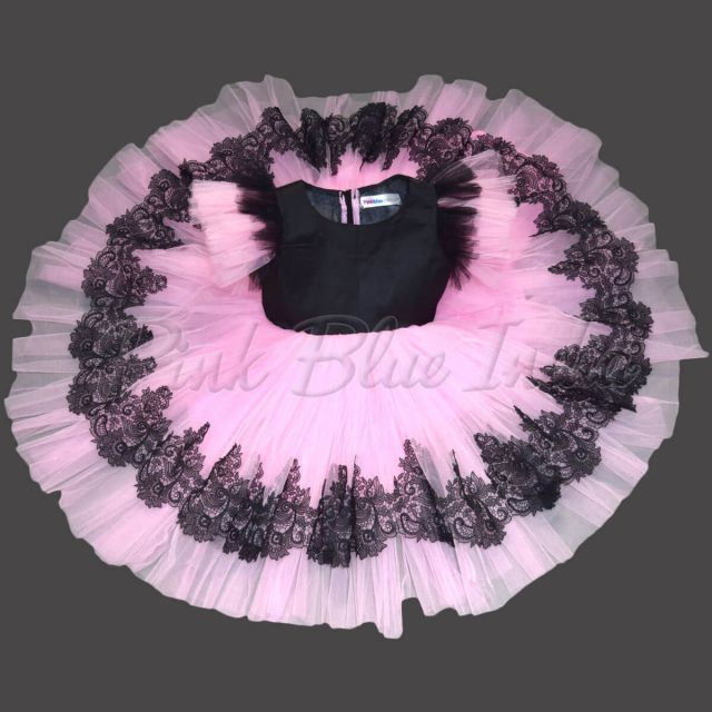 baby girls Party wear frock dress Black pink color