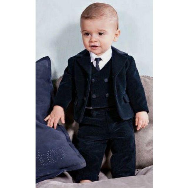 Boys Blue Velvet Suit, Party Baby Boy Velvet Suit