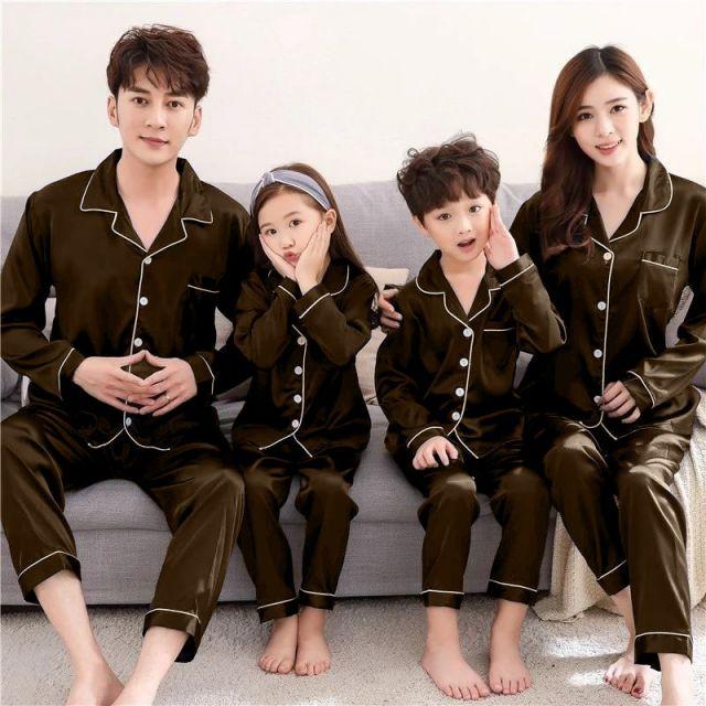 Mother Daughter Nightwear Pajamas, Matching Family Night Dress, Mom Baby Nightwear, Night Suits