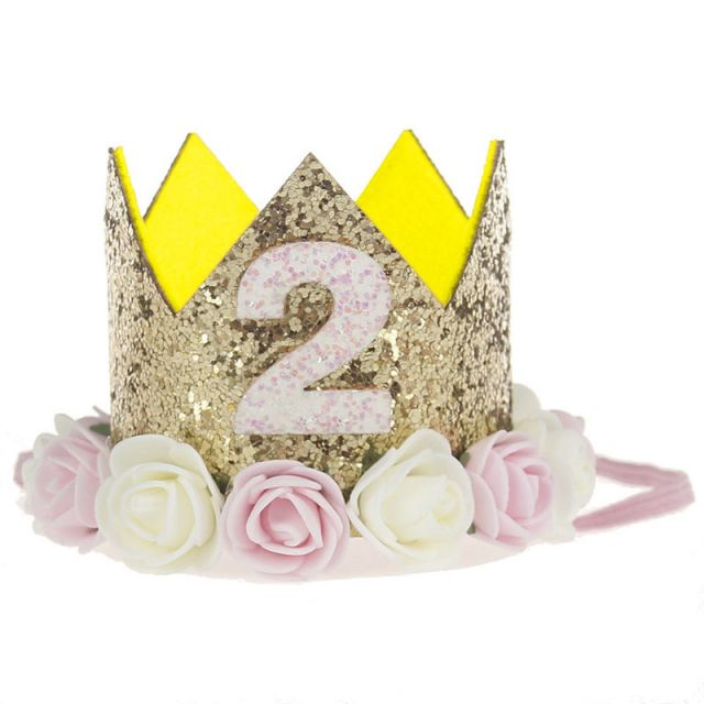 Buy Princess 2nd Birthday Party Crown Hat for Toddler Girls