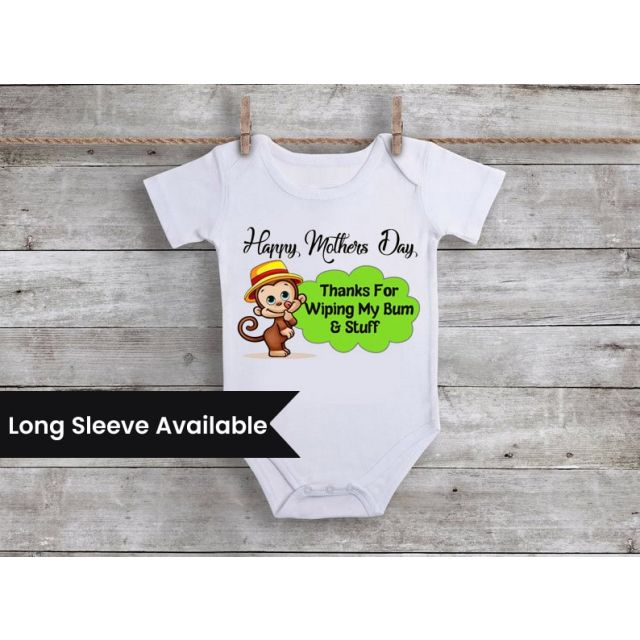 Mother's day Bodysuit, Baby Romper - Moms First Mothers Day Gifts