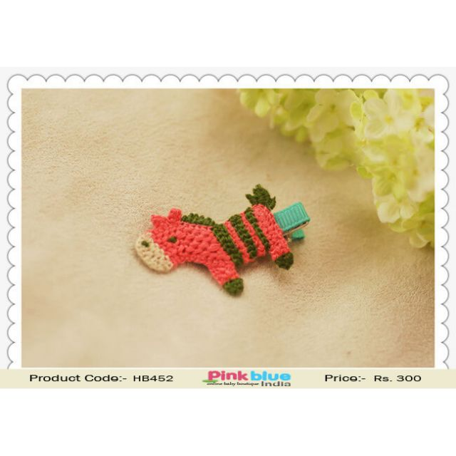 Horse Shaped Clip for Infant Baby Girls