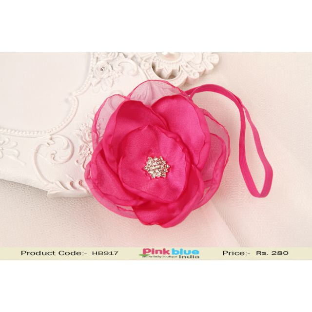 Pink Flower Hair Accessory for Baby Girls