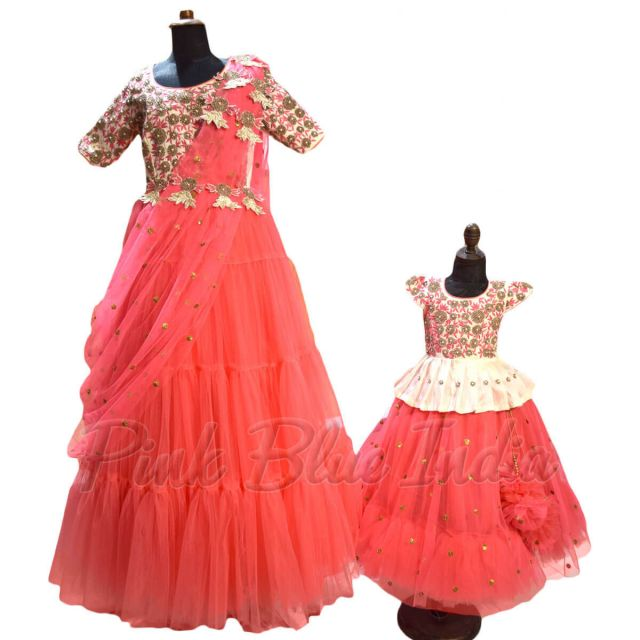 Mother Daughter Matching Lehengas Boutique