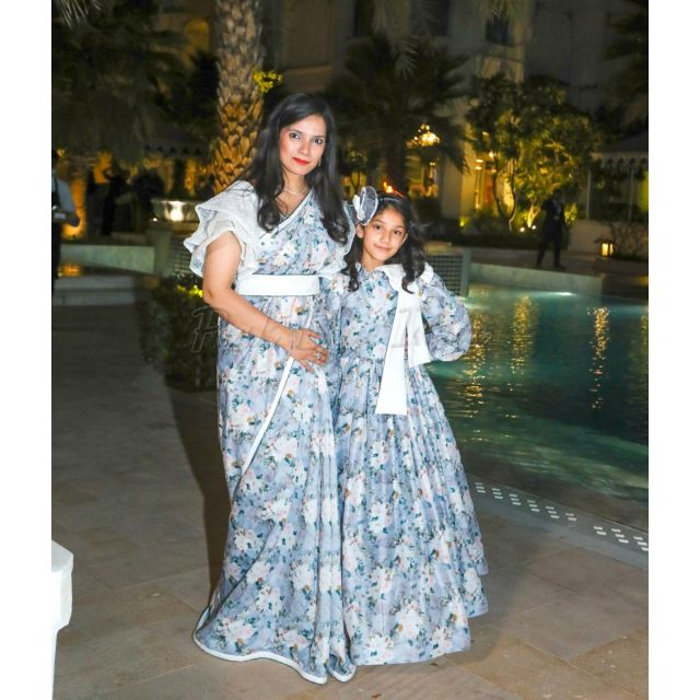 Mother Daughter Matching Sarees, Mommy and Me Combo Outfits