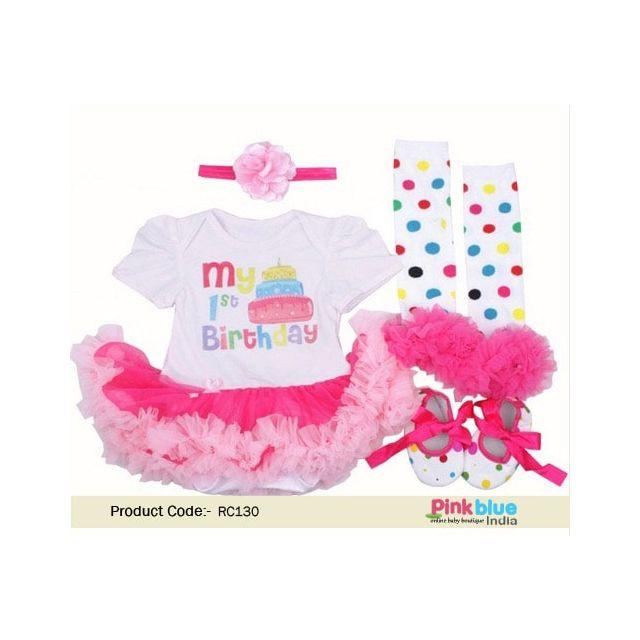 My 1st Birthday Clothes – Pink Cake Smash Tutu Dress