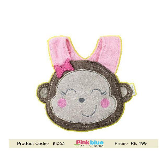 crochet baby monkey bib