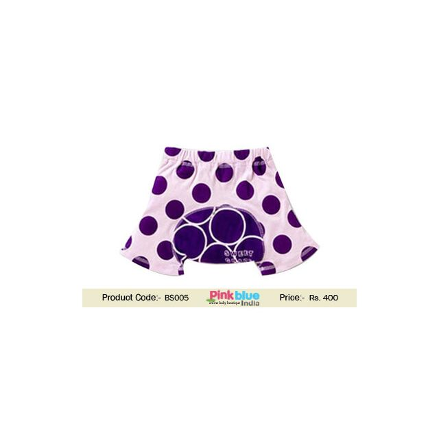 purple baby shorts