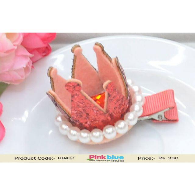 Princess Pink Color Tiara Style Hair Accessory