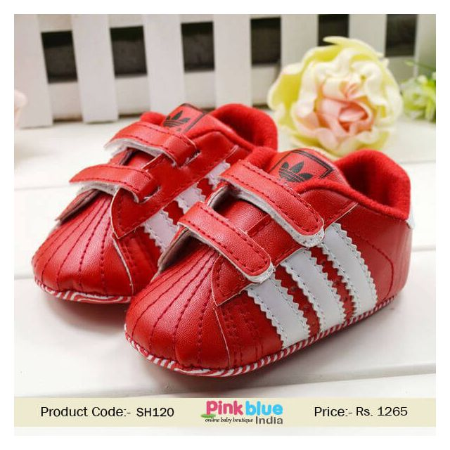 red kids casual shoes