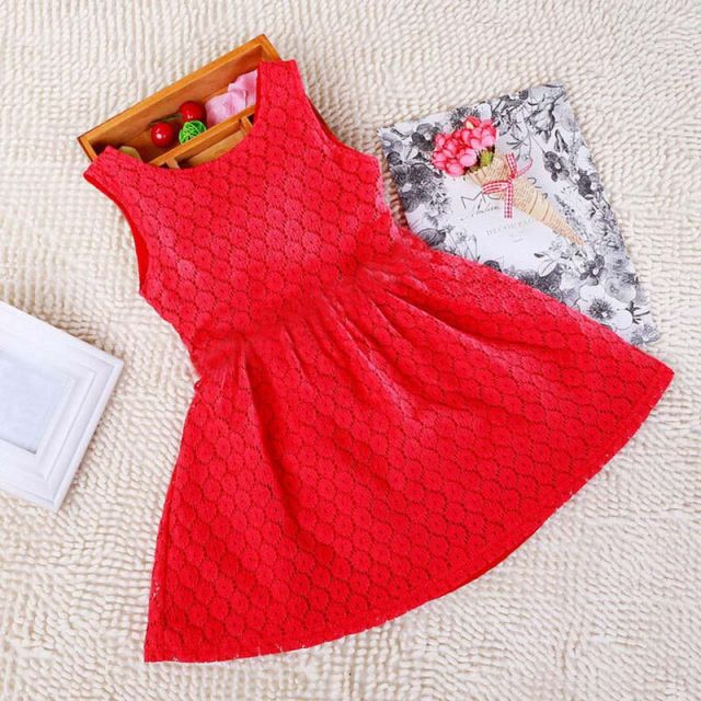 Rad Kids party Wear dress, Red Frock for Girls India