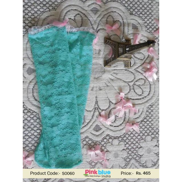 long socks sea green