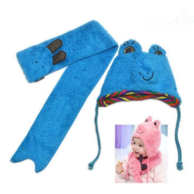 blue kids winter cap set