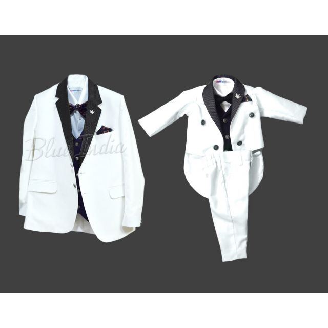 White Father Son Matching Wedding Party Suits Online