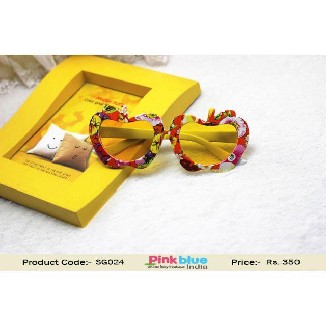 Apple Floral Print Kids Sunglasses Yellow Boys Girls Sun Glasses