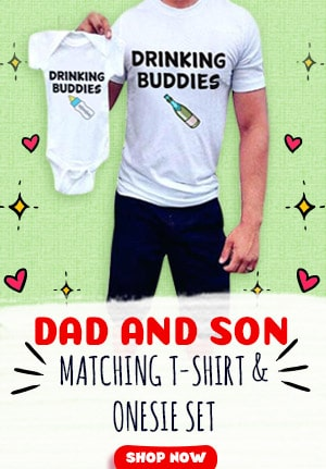 First Father Day Outfit, Matching T-shirt