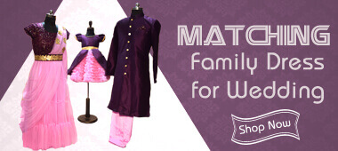 family matching dress for wedding