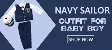 Baby Toddler Boys Nautical Sailor outfit