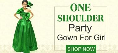 Baby Girl one shoulder Birthday Dress