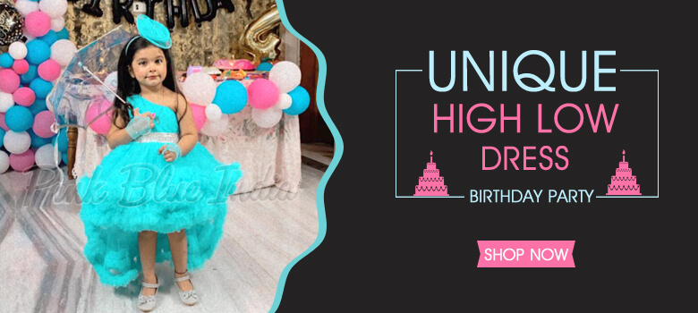 Little Girl High Tail Birthday party Dress