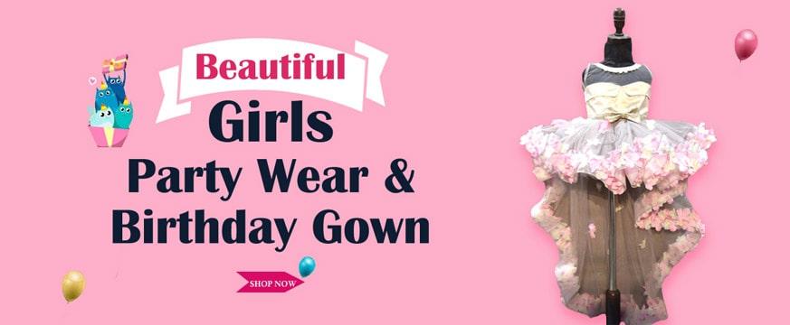 Kids birthday party gown, Girls Birthday Dress