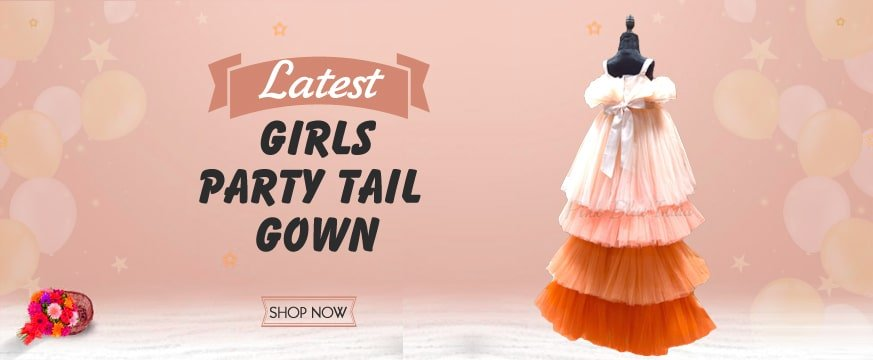Girl High tail Birthday Gown Dress