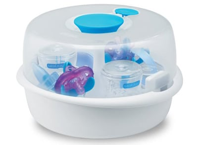 Sterilize baby bottle Steaming