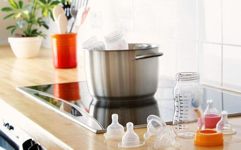boiling sterilize baby bottles