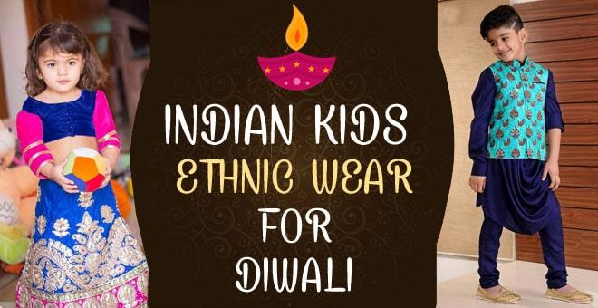 Indian Kids Ethnic Wear for Diwali, Designer Festival Baby ...